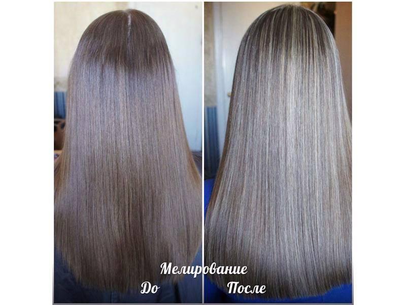 меблирование на длинные волосы