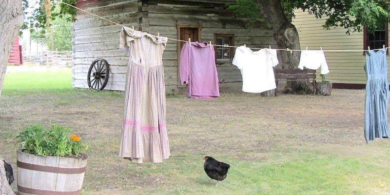 стирать бельё в деревне