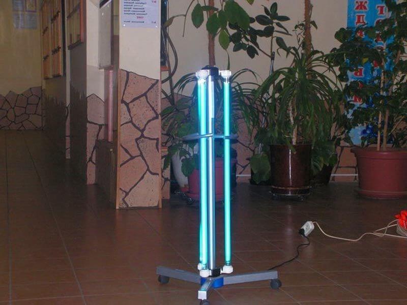 ультрафиолетовая лампа - хорошее средство для борьбы с плесенью